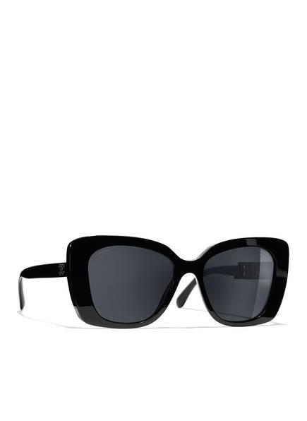 CHANEL Sunglasses Quadratische Sonnenbrille , Farbe: SCHWARZ & GRAU POLARISIERT (Bild 1)