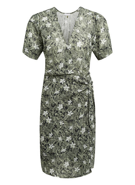 Freebird Kleid ODETTE in Wickeloptik, Farbe: DUNKELBLAU/ HELLGRÜN/ WEISS (Bild 1)