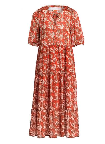 Freebird Kleid SONIAS mit 3/4-Arm, Farbe: ORANGE/ WEISS/ BRAUN (Bild 1)