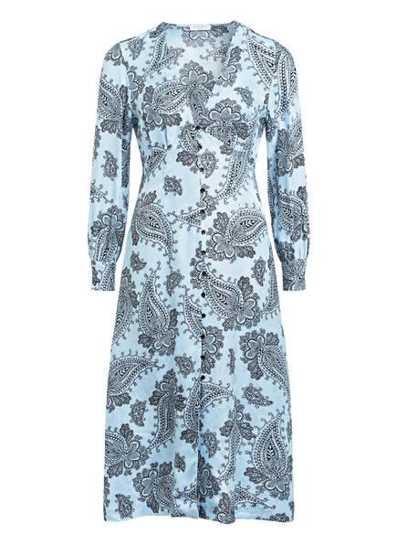 sandro Kleid mit Seide, Farbe: HELLBLAU/ SCHWARZ (Bild 1)