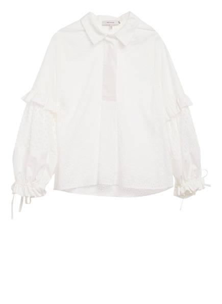 MUNTHE Bluse MELT mit Lochspitze, Farbe: WEISS (Bild 1)