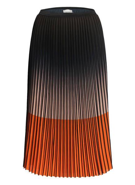MUNTHE Plisseerock MAINTAIN, Farbe: SCHWARZ/ ORANGE (Bild 1)