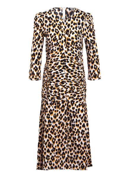 BY MALENE BIRGER Kleid MOONIA mit 3/4-Arm, Farbe: WEISS/ SCHWARZ/ ORANGE (Bild 1)