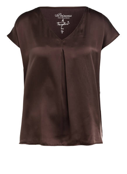 Princess GOES HOLLYWOOD Blusenshirt im Materialmix, Farbe: BRAUN (Bild 1)