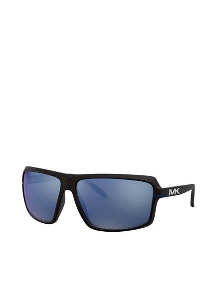 MICHAEL KORS Sonnenbrille MK-2114 CARSON, Farbe: 333255 - MATT SCHWARZ/ BLAU VERSPIEGELT (Bild 1)