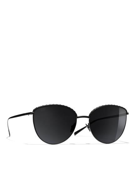 CHANEL Sonnenbrille, Farbe: C101T8 - MATT SCHWARZ/ GRAU POLARISIERT (Bild 1)