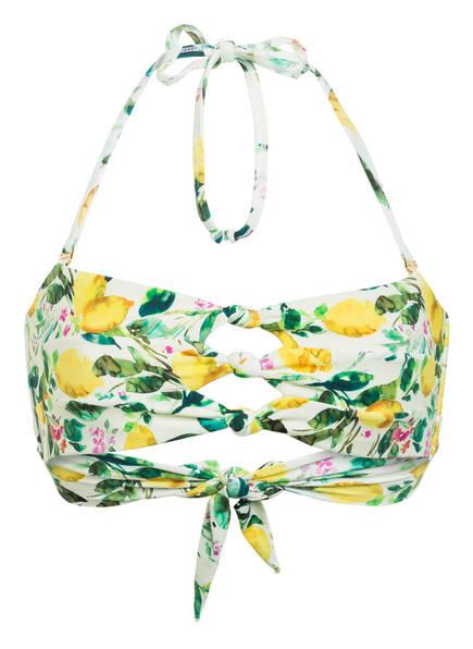 PILYQ Bandeau-Bikini-Top LEMONS , Farbe: HELLGELB/ GRÜN/ GELB (Bild 1)