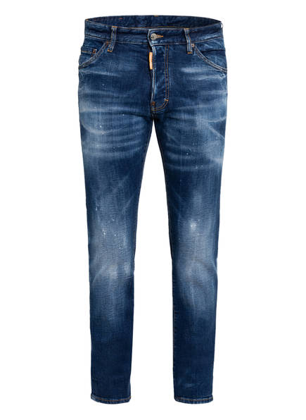 DSQUARED2 Destroyed Jeans COOL GUY , Farbe: 961 BLUE-ORANGE ICON (Bild 1)