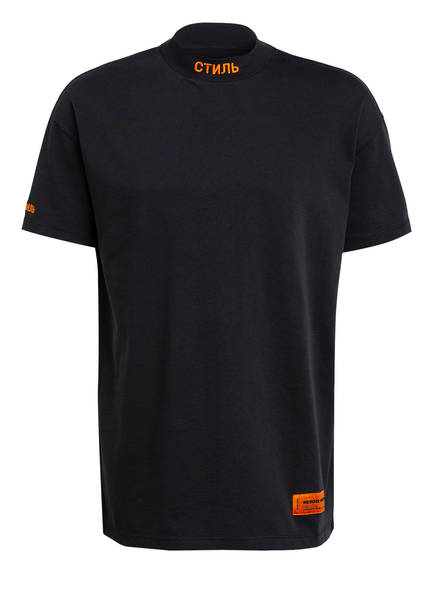 HERON PRESTON Oversized-Shirt, Farbe: SCHWARZ/ ORANGE (Bild 1)