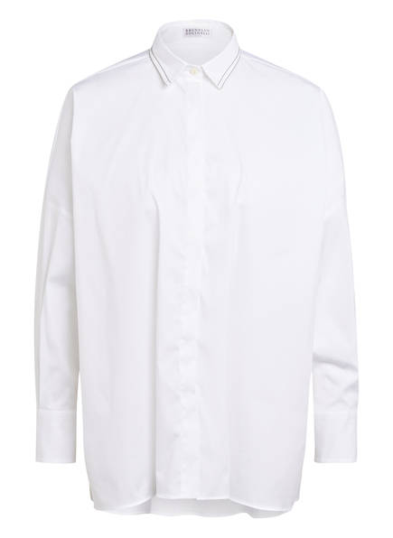 BRUNELLO CUCINELLI Oversized-Hemdbluse , Farbe: WEISS (Bild 1)