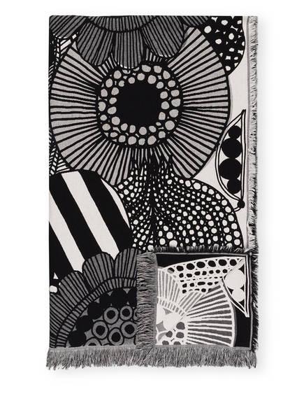 marimekko Plaid SIIRTOLAPUUTARHA, Farbe: SCHWARZ/ WEISS (Bild 1)