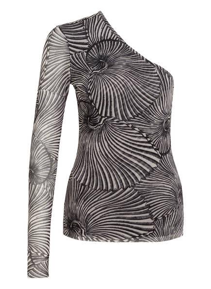 BAUM UND PFERDGARTEN One-Shoulder-Shirt JAMAICA, Farbe: WEISS/ SCHWARZ (Bild 1)