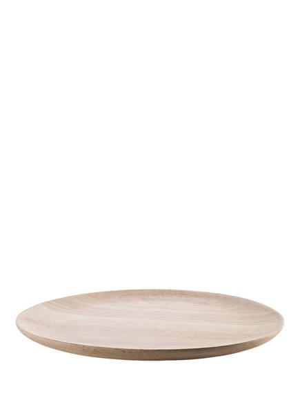 Bloomingville Speiseteller SNORRI aus Holz , Farbe: BEIGE (Bild 1)