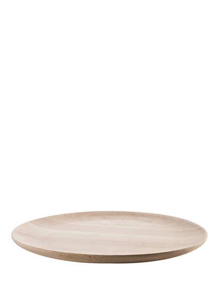 Bloomingville Speiseteller aus Holz, Farbe: BEIGE (Bild 1)