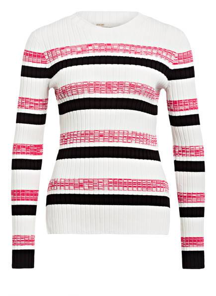 maje Pullover MANUEL, Farbe: WEISS/ SCHWARZ/ PINK (Bild 1)