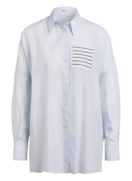 BRUNELLO CUCINELLI Oversized-Hemdbluse, Farbe: HELLBLAU (Bild 1)