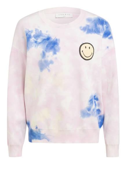 sandro Pullover, Farbe: HELLROSA/ WEISS/ BLAU (Bild 1)