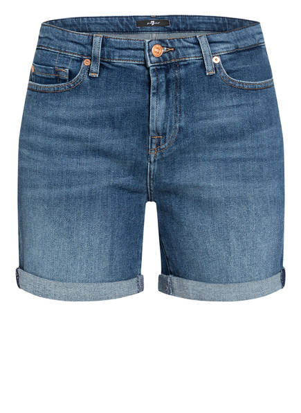 7 for all mankind Jeans-Shorts BOY SHORTS, Farbe: PIER MID BLUE (Bild 1)