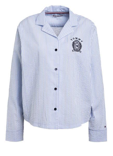 TOMMY HILFIGER Schlafshirt , Farbe: WEISS/ HELLBLAU (Bild 1)