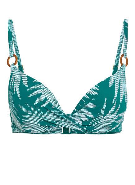 Chantelle Push-Up-Bikini-Top BAMBOO, Farbe: GRÜN/ WEISS (Bild 1)