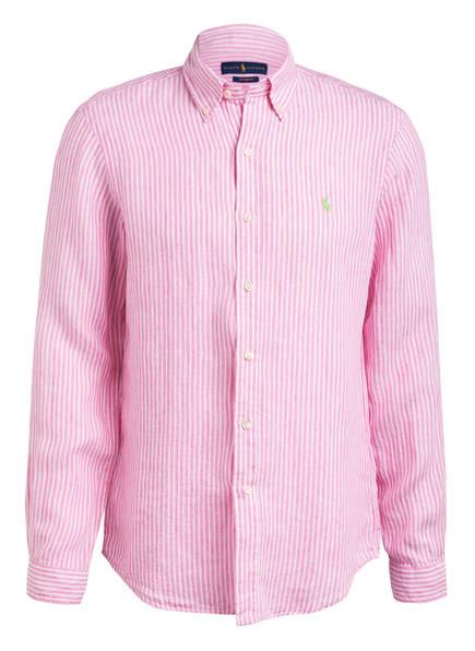POLO RALPH LAUREN Leinenhemd Custom Fit, Farbe: PINK/ WEISS GESTREIFT (Bild 1)