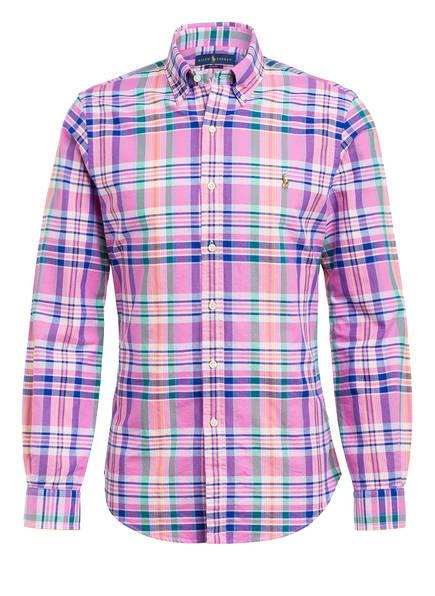 POLO RALPH LAUREN Hemd Slim Fit, Farbe: HELLROSA/ WEISS/ LILA (Bild 1)