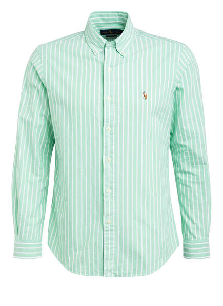 POLO RALPH LAUREN Hemd Custom Fit, Farbe: HELLGRÜN/ WEISS GESTREIFT (Bild 1)