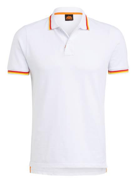 SUNDEK Piqué-Poloshirt BRICE Regular Fit, Farbe: WEISS (Bild 1)