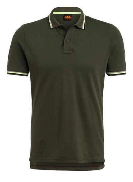 SUNDEK Piqué-Poloshirt BRICE Regular Fit, Farbe: DUNKELGRÜN (Bild 1)