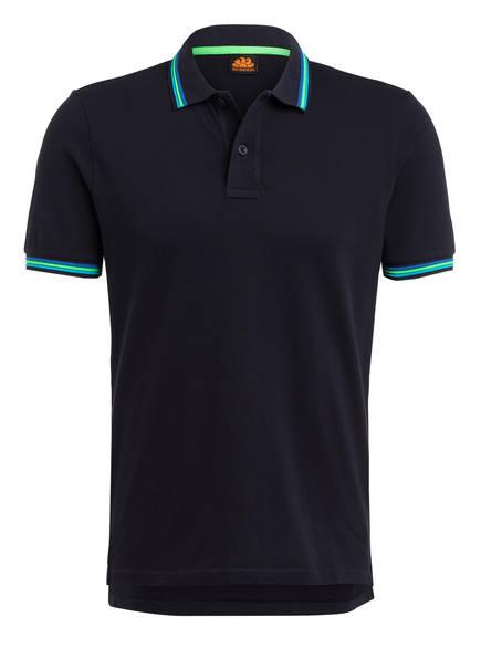 SUNDEK Piqué-Poloshirt BRICE Regular Fit, Farbe: DUNKELBLAU (Bild 1)