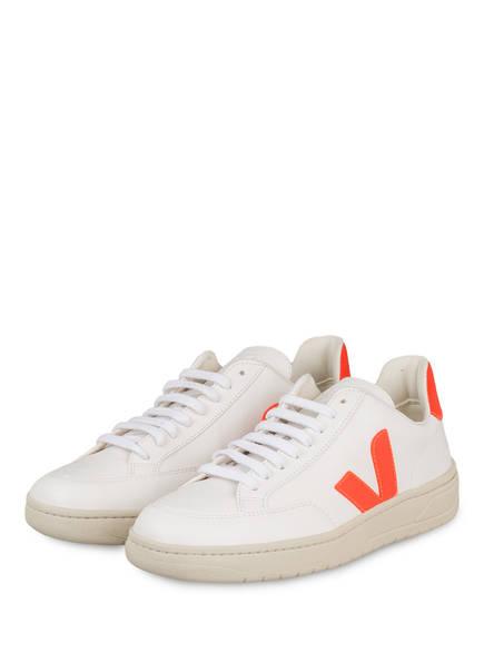 VEJA Sneaker V-12 , Farbe: WEISS/ ORANGE (Bild 1)