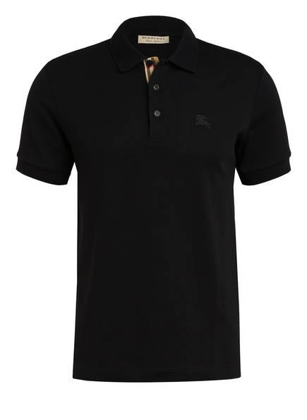 BURBERRY Piqué-Poloshirt HARTFORD, Farbe: SCHWARZ (Bild 1)