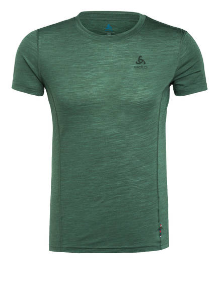 odlo T-Shirt NATURAL + LIGHT mit Merinowolle, Farbe: OLIV (Bild 1)