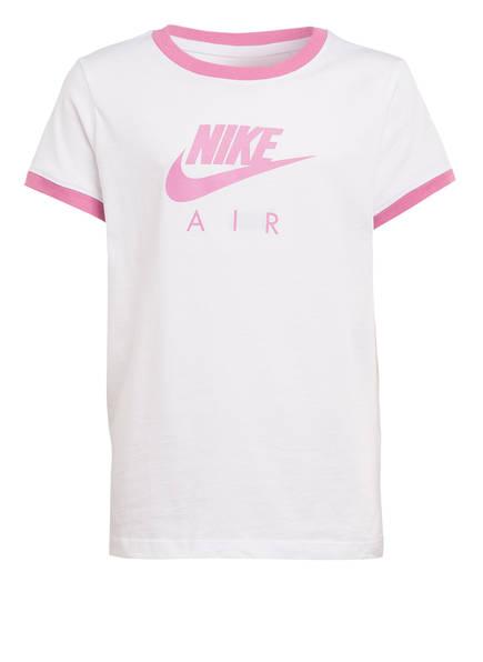 Nike T-Shirt AIR, Farbe: WEISS/ ROSA (Bild 1)