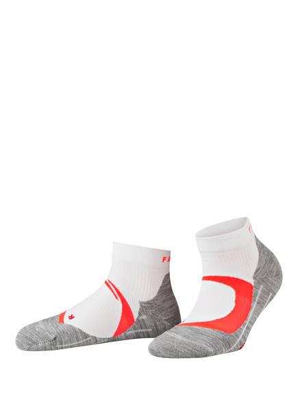 FALKE Running-Socken RU4 COOL SHORT, Farbe: 2028 WHITE-NEON RED (Bild 1)