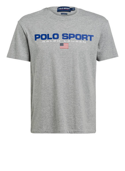 POLO RALPH LAUREN T-Shirt , Farbe: HELLGRAU MELIERT (Bild 1)