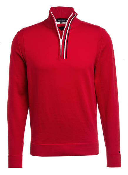 TOMMY HILFIGER Troyer, Farbe: ROT (Bild 1)