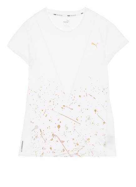 PUMA T-Shirt METAL SPLASH mit Mesh-Einsatz, Farbe: WEISS (Bild 1)