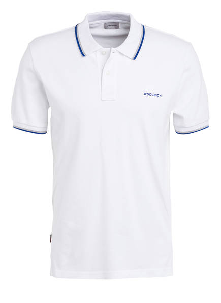WOOLRICH Piqué-Poloshirt MONTEREY , Farbe: WEISS (Bild 1)