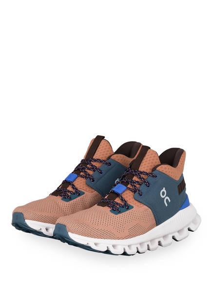 On Running Sneaker CLOUD HI EDGE, Farbe: NUDE/ BLAU (Bild 1)