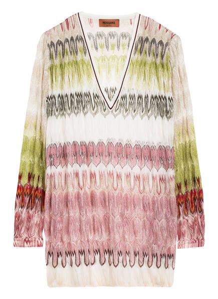 MISSONI Pullover mit Glitzergarn, Farbe: ROSE/ GRÜN/ WEISS (Bild 1)