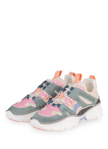 ISABEL MARANT Sneaker KINDSAY, Farbe: PETROL/ ROSA/ ECRU (Bild 1)