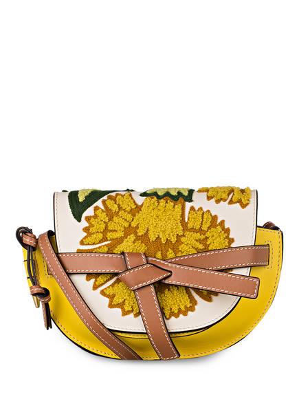 LOEWE Mini Bag GATE MINI, Farbe: GELB/ CREME/ BRAUN (Bild 1)