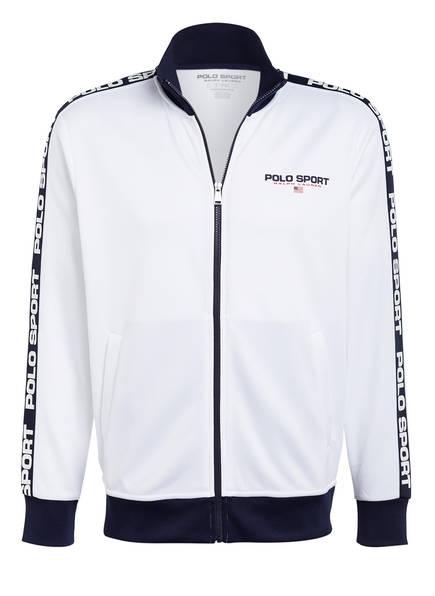 POLO RALPH LAUREN Trainingsjacke mit Galonstreifen, Farbe: WEISS (Bild 1)