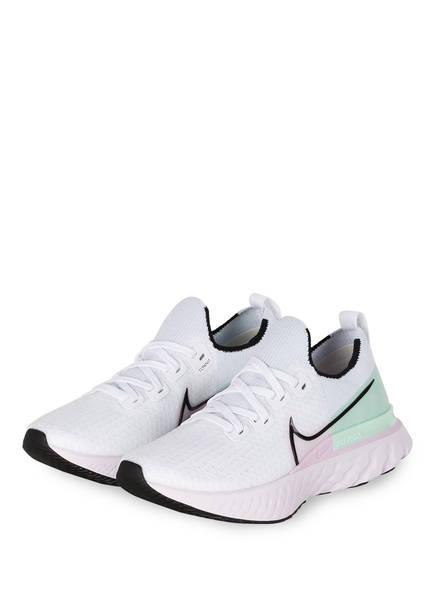 Nike Laufschuhe REACT INFINITY RUN FLYKNIT, Farbe: WEISS/ MINT/ FLIEDER (Bild 1)