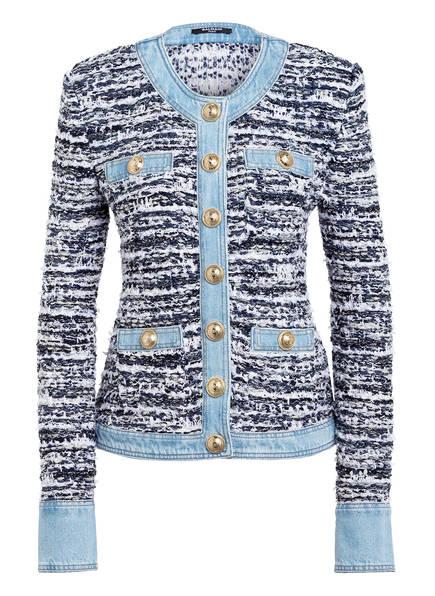 BALMAIN Tweed-Jacke, Farbe: WEISS/ HELLBLAU/ BLAU (Bild 1)