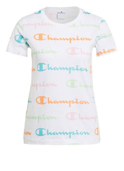 Champion T-Shirt, Farbe: WEISS/ ORANGE/ ROSA (Bild 1)