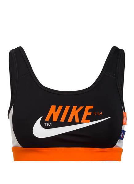Nike Sport-BH SWOOSH ICON CLASH, Farbe: SCHWARZ/ ORANGE (Bild 1)