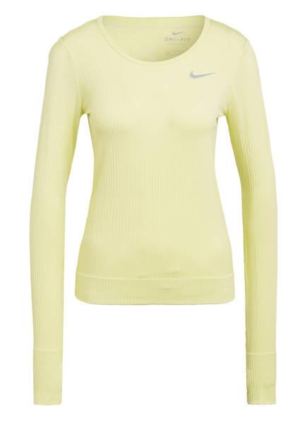Nike Laufshirt INFINITE mit Mesh-Einsätzen, Farbe: LIME (Bild 1)