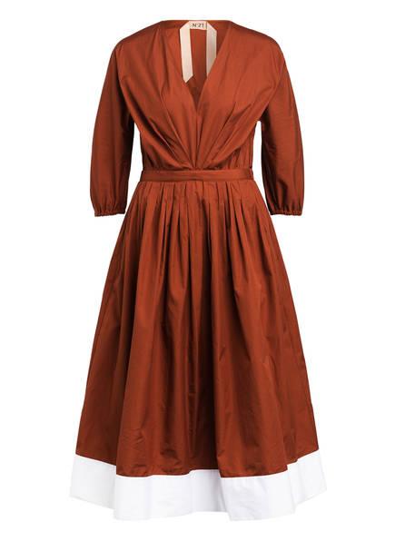 N°21 Kleid, Farbe: BRAUN/ WEISS (Bild 1)